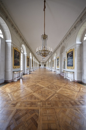 grand palace: Room at the Grand Trianon in Palace  Versailles, France. The Grand Trianon was a private place for the king. Editorial