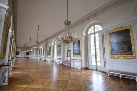 Room at the Grand Trianon in Palace  Versailles, France. The Grand Trianon was a private place for the king.