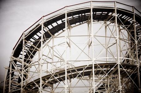 Cyclone Roller-coaster in the Coney Island Astroland Amusement Park, Usa