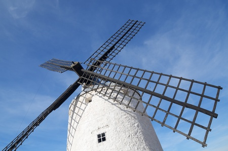 forefront of  the blades of a traditional windmill in Consuegra, Toledo, Castilla La Mancha, spain photo