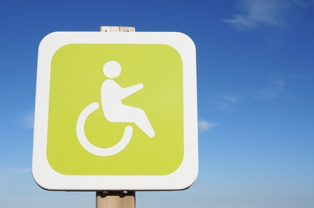 signal that indicate priority parking for disabled vehicles photo