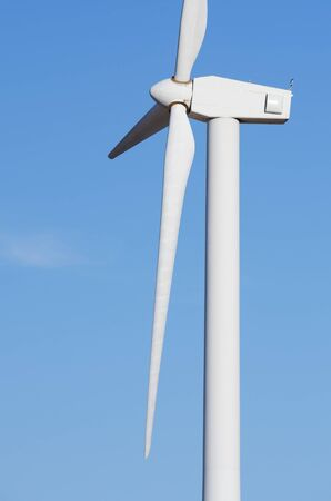 detail of the top of a windmill for renewable energy production photo