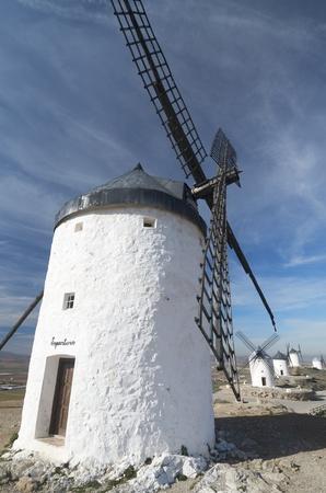 castilla la mancha: traditional windmills in Consuegra, Toledo, Castilla La Mancha, spain