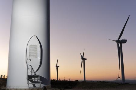 Eingang zu einer Windmühle für elektrische renowable Produktion Standard-Bild