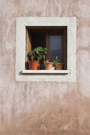 close  a window in the town of  Sigüenza, Guadalajara, Castilla  La Mancha, Spain Stock Photo - 11721683