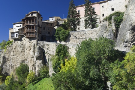 cuenca: view of the hanging houses of Cuenca