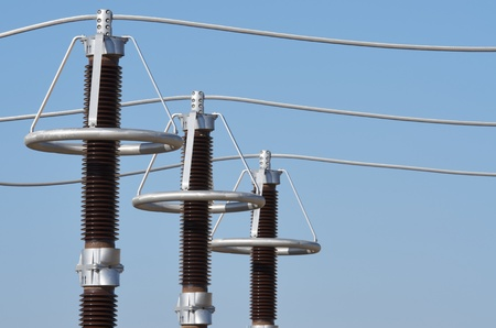 insulators: forefront of the elements of an electrical substation