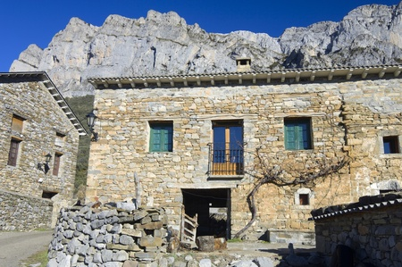 view of a stone rural house in Pyrenees Stock Photo - 11721793