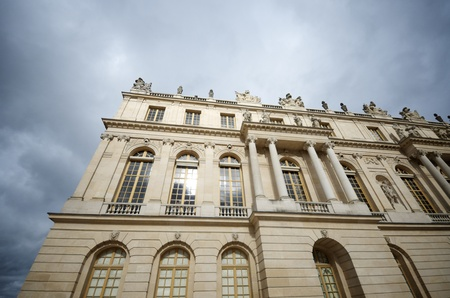 view of the facade of the Palace  Versailles, France. photo