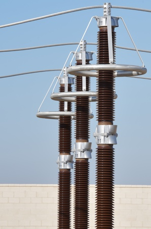 forefront: forefront of the elements of an electrical substation