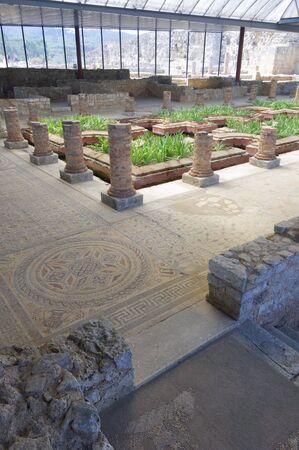 view of the Roman ruins of Conimbriga,  Portugal photo