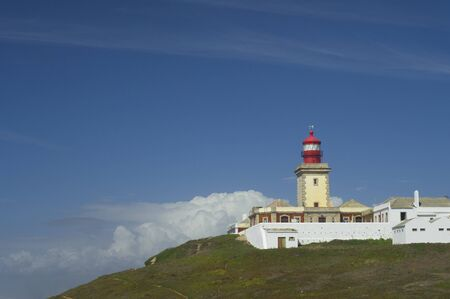 lighthouse  view of Cabo da Roca, the westernmost point of Europe, Areia, Portugal