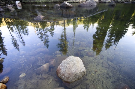 reflections on the river in Yosemite National park photo