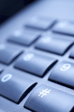 close up of a black telephone keypad Stock Photo - 12287958