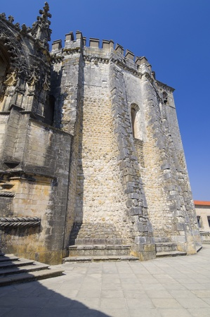 convent: exterior view of the Templar convent  of Christ, Tomar, Ribatejo, Portugal Stock Photo