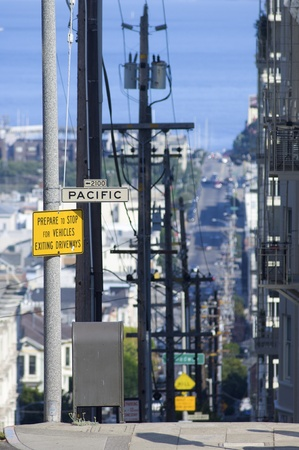view of one of the typical streets of san francisco, california, usa photo