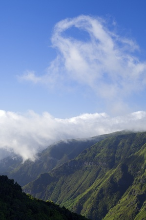 mountainous landscape and clouds on the island of Madeira, Portugal Stock Photo - 12287918