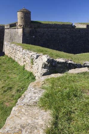 edificación: Vista del castillo de San Pedro, conocida como La Ciudadela, en Jaca, Huesca, Arag�n, Espa�a Foto de archivo