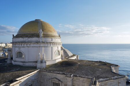 view of the cathedral of Cadiz, Andalusia, Spain photo