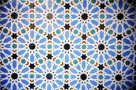 alcazar: closeup of a ceramic tile in Reales Alcazares, Seville, Andalucia, Spain
