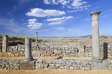 archaeological remains of the ruins of Numancia, Soria, Castilla Leon, Spain