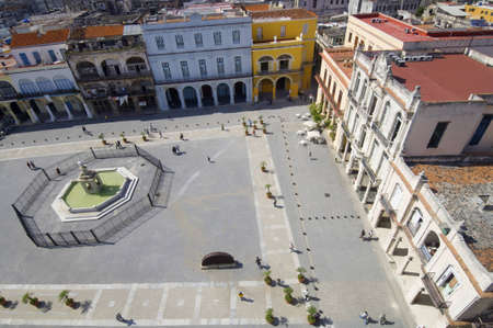 elevated view of Plaza Vieja in Havana, Cuba Stock Photo - 12689511