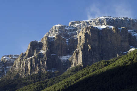 ordesa: Mondarruego mountains in Ordesa National Park, Pyrenees, Huesca, Aragon, Spain Stock Photo