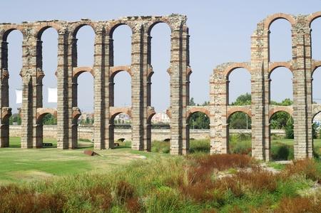 merida: Miracles aqueduct in Merida, Extremadura, Spain