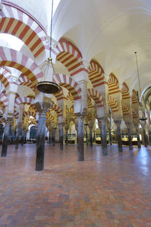 mudejar: inside view of the Mosque of Cordoba, Andalucia, Spain