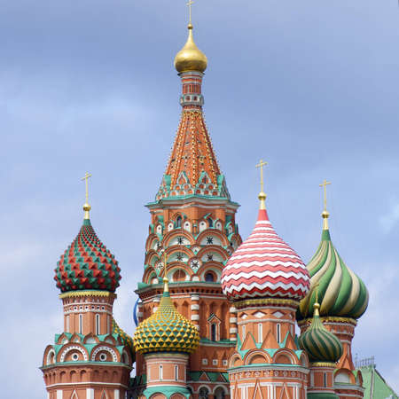 View of the  Orthodox Cathedral of St. Basil in Red Square, Moscow, Russia Stock Photo - 12683685