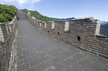 view of the Simatai Great Wall of China, Beijing, China photo