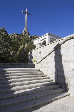 San Lorenzo del Escorial, Spain - December 27, 2009: Valley of the Fallen, ordered built by General Francisco Franco, in memory of victims of the Spanish Civil War. Now houses the tomb of the dictator.