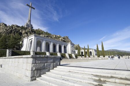 San Lorenzo del Escorial, Spain - December 27, 2009: Valley of the Fallen, ordered built by General Francisco Franco, in memory of victims of the Spanish Civil War. Now houses the tomb of the dictator. Stock Photo - 12882689