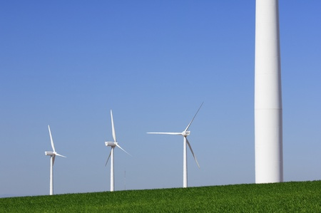 group of windmills for renewable electric energy production Stock Photo - 12882767