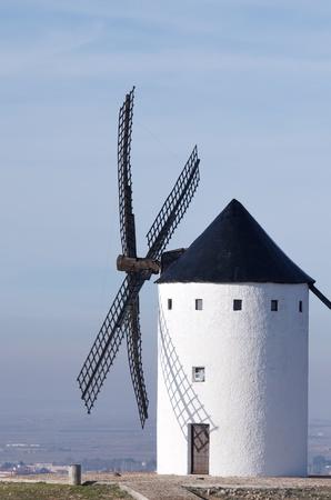 castilla la mancha: traditional windmill in Alcazar de San Juan, Ciudad Real, Castilla La Mancha, Spain Editorial