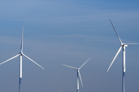 view of  windmills for renewable electric  energy production, Pozuelo de Aragon, Saragossa province, Aragon, Spain photo
