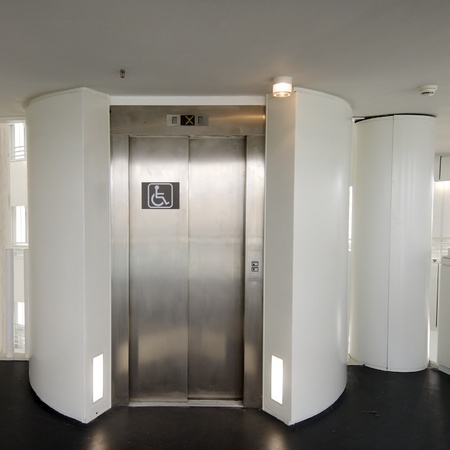 elevator with priority of use for disabled people photo