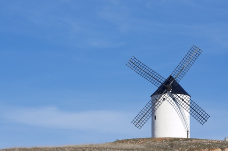 traditional windmill: traditional windmill in Alcazar de San Juan, Ciudad Real, Castilla La Mancha, Spain Stock Photo