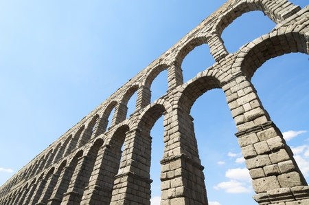 view of the aqueduct of Segovia, Castilla Leon, Spain Stock Photo - 13504192