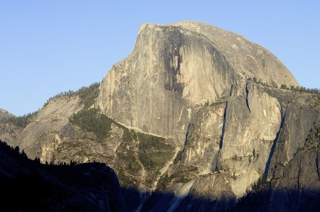 view of the mountain known as Half Dome in Yosemite National Park, California, United States Stock Photo - 13674422