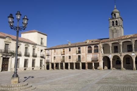 castilla leon: view of the square of Medinaceli, Soria, Castilla Leon, Spain Stock Photo