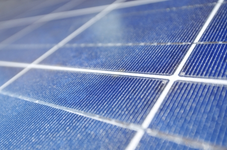 closeup of a photovoltaic panel for electric energy production photo