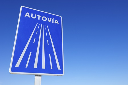 circulate: European signal indicating that circulate on a highway in Spain