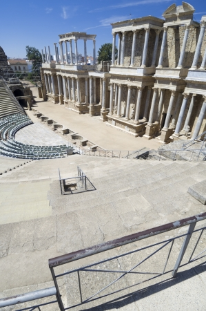 Roman theater in Merida, the theater, today, is used for theatrical performances, Merida, Badajoz, Extremadura, Spain Stock Photo - 14138000