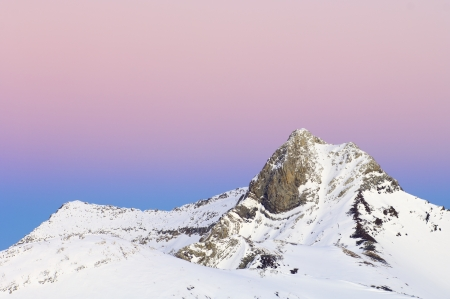 Sunset in Ballibierna Peak, Maladeta Mountains, Benasque Valley, Pyrenees, Huesca, Aragon, Spain Stock Photo - 14007305