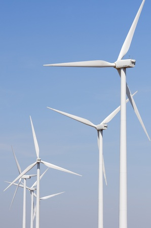 windfarm: group of windmills for renewable electric energy production