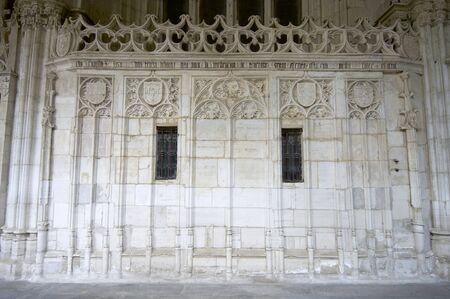 Gothic  cloister of the cathedral  of Toledo, Castilla La Mancha, Spain photo