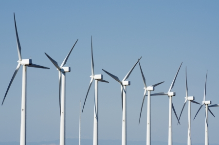 group of windmills for renewable electric energy production Stock Photo - 14288910