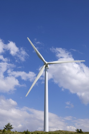 windmill for clean energy production renewable electric, Aras, Navarre, Spain photo