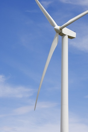 wind turbines: detail of the top of a windmill for renewable energy production